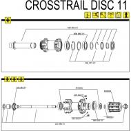 Mavic Crosstrail Achskit FTS Hinterrad incl Verschraubung bis Modell 2012