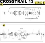 Mavic Crosstrail QR 15 Achs Kit Vorderrad Modell 2013