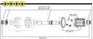 Mavic ITS4 Freilaufkoerper Kit inc 150 mm Achse - 150 mm Anschlaege
