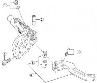 Shimano XTR BLM987 Ersatzteil - Entlueftungsschraube mit Dichtring