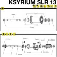 Mavic Ksyrium SLR Achsanschlag links Hinterrad Modell 2013