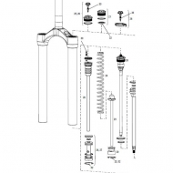 Rock Shox Lyrik Dual Position Air Ersatzteil Airschaft links 160 mm Modell 2007-2015