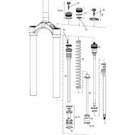 Rock Shox Lyrik Coil Ersatzteil Federschaft links 170 mm Modell 2010-2015