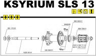 Mavic Ksyrium SLS Hinterrad Rahmenanschlag links