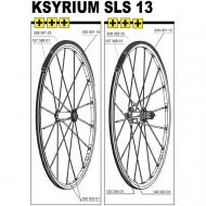 Mavic Ksyrium SLS Ersatzspeiche Hinterrad links Clincher 298 mm Modell 2013
