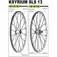 Mavic Ksyrium SLS Ersatzspeiche Vorderrad Clincher 283,5 mm Mod 2013