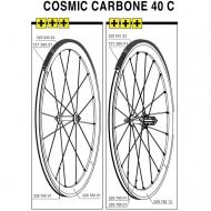 Mavic Cosmic Carbone 40 C Ersatzspeiche Hinterrad links 277 mm