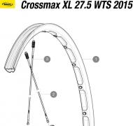 Mavic Crossmax XL Speiche Hinterrad 27,5 Zoll links 274 mm Mod 2015