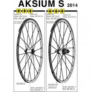 Mavic Aksium S Ersatzflege Vorder- Hinterrad Decor rot Modell 2014