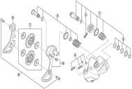 Shimano Dura Ace Di2 RD-9070 Schaltwerk - Schaltraedchenschrauben Nr 9