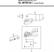 Shimano XT SLM780 Schalthebel Einheit rechts 10 fach Nr 1