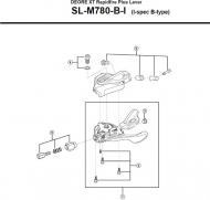 Shimano XT SLM780 Schalthebel Einheit links 2-3 fach Nr 1