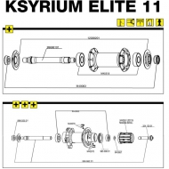 Mavic Ksyrium Elite Achse mit Verschraubung Hinterrad Modell 2011