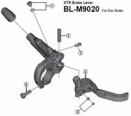 Shimano XTR BLM9020 Bremsgriff Ersatzteil Lenkerschellen Schraube