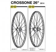 Mavic Crossone Speiche 26 Zoll Vorderrad Modell 2014