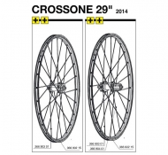 Mavic Crossone Speiche 29 Zoll Hinterrad links 296 mm Modell 2014