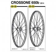 Mavic Crossone Speiche 27,5 Zoll Hinterrad links 278 mm Modell 2014