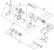 Shimano Dura Ace Di2 RD-7970 Ersatzteil Schaltraedchenschrauben Nr 6