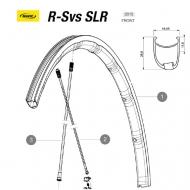 Mavic R-SYS SLR Speiche Zircal Hinterrad rechts Clincher 293,5 mm Nippel schwarz Modell 2015