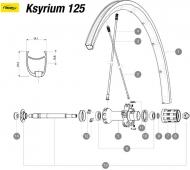 Mavic Ksyrium SLR 125 Speiche Carbon Hinterrad links 282,5 mm Mod 2015