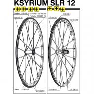 Mavic Ksyrium SLR Speiche Carbon Hinterrad links 287 mm Mod 2012