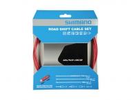 Shimano Dura Ace Schaltzug Set SLR-EV polymer-beschichtet rot