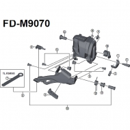 Shimano XTR Di2 Ersatzteil Umwerfer FD-M9070 Gummi Pad A Nr 5