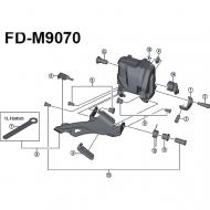 Ersatzteil Shimano XTR Di2 Umwerfer FD-M9070 | Gummi Pad B Nr 6