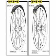 Mavic Crossmax Enduro 26 Zoll Ersatzspeiche Hinterrad links 266,5 mm Mod 2014