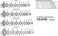 Shimano Ultegra CS6700 Deore XT CS-M8000 Verschlussring Spacer 10 fach f 11 Zaehne