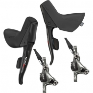 Set Sram Red 22 Disc Schaltbremshebel black 11-2 fach + Post Mount Bemsen