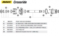 Mavic Crossride Achskit TS2 Hinterrad incl Verschraubung Nr 6