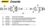 Mavic Crossride Verschraubungskit links TS2 Hinterrad Nr 10