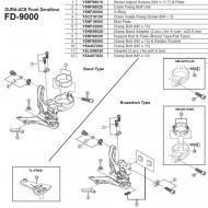 Shimano Ersatzteil fuer Dura Ace Umwerfer FD-9000 - Einstellschraube mit Platte Nr 1