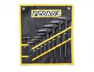 Pedros T-Innensechskantschluessel Set, 2/2,5/3/4/5/8/10 inclusive Torx T25