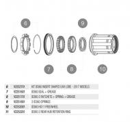 Mavic Instant Drive 360 Nabe QRM+ Ersatzteil - Zahnscheiben 2 Stueck plus Feder