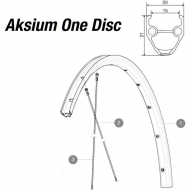 Mavic Aksium One Disc Ersatzfelge Vorder-Hinterrad 24 Loch schwarz Modell 2015
