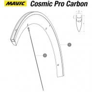 Mavic Cosmic Pro Carbone Felge Vorderrad Decor weiss bis Mod 2016