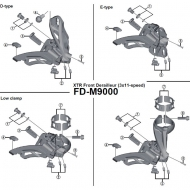 Shimano XTR Einstellschraube mit Gegenplatte fuer Umwerfer FD-M9000 Nr 2