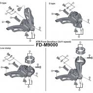 Shimano XTR Gummi Pad fuer Umwerfer FD-M9000 Nr 3
