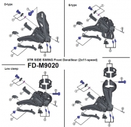 Shimano XTR Einstellschraube mit Gegenplatte fuer Umwerfer FD M9020 Nr 2