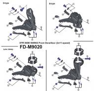 Shimano XTR Kettenfaenger mit Schraube mit Gegenplatte fuer Umwerfer FD M9020 Nr 3
