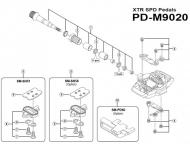 Shimano XTR Halteklammern links mit Befestigungsschrauben fuer Pedale PD-M9020 Nr 4