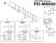 Verschluss Huelse fuer Achse rechts Pedale PD-M9000 Nr 2