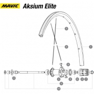 Mavic Aksium Elite Ersatzspeiche Hinterrad links 282 mm Modell 2015