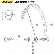 Mavic Aksium Elite Ersatzspeiche Vorderrad 282 mm Modell 2015