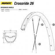 Mavic Crossride Disc Ersatzfelge Vorderrad 26 Zoll Modell 2016