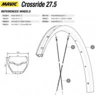 Mavic Crossride Disc Ersatzfelge Hinterrad 27,5 Zoll Modell 2016