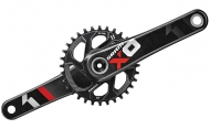 Sram X01 Kurbel BB30 Direct Mount 32 Zaehne 175 mm schwarz-rot