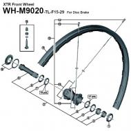 Shimano Ersatzspeiche XTR WH-M9020 Vorder- Hinterrad 29 Zoll 298 mm